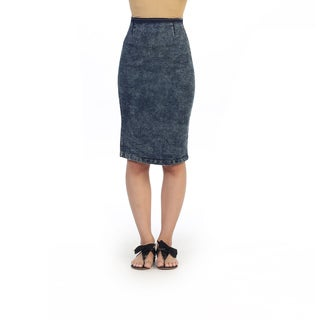 Hadari Junior's Knee-length Jean Pencil Skirt