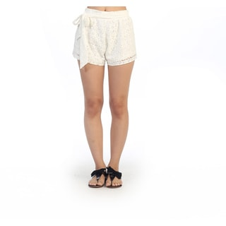 Hadari Junior's Casual White Lace Shorts