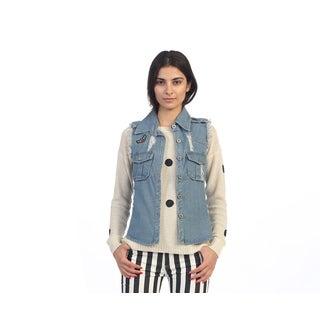Hadari Junior's Button-up Denim Vest