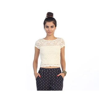 Hadari Junior's Ivory Lace Top