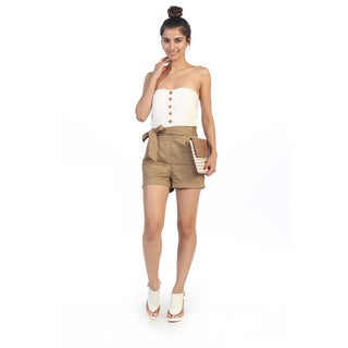 Hadari Junior's Two-tone Strapless Romper