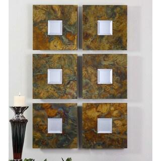 Uttermost Ambrosia Oxidized Copper Square Mirror (Set of 2)