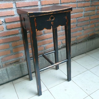 Dalit Bar Stool Mahogany Wood Chair