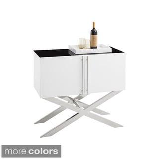 Sunpan Terra Oak Wine Cabinet