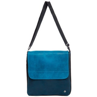 Royal Blue / Turquoise Two-tone Perfect Crossbody Bag with Flap (Colombia)