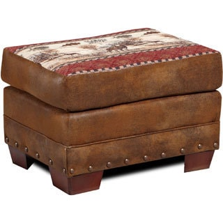 Brown Tapestry Deer Valley Lodge Ottoman