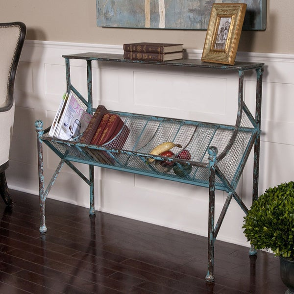 Uttermost Generosa Black Bookshelf Table