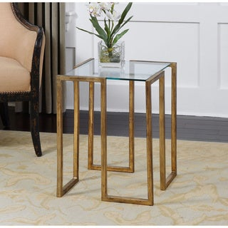 Mirrin Antique Gold Accent Table