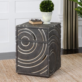 Toma Pewter Side Table