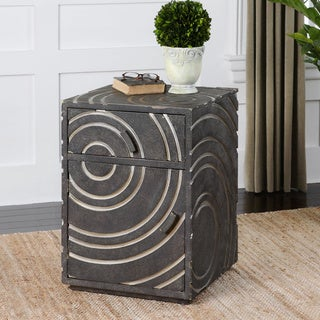 Uttermost Toma Pewter Side Table