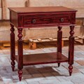 Uttermost Zilla Vintage Red Side Table