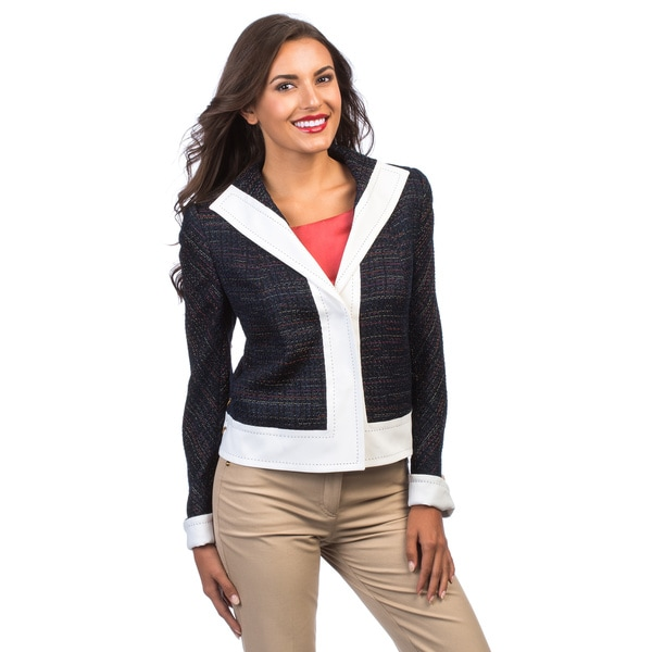 Escada Women's 'Battina' Navy Woven Jacket