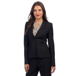 Escada Beya Women's Black Woven Blazer