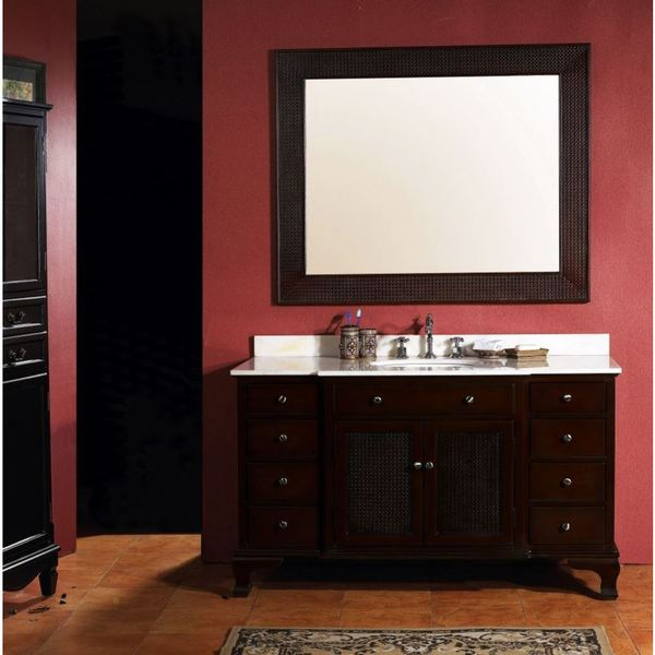 James Martin Toscano Single Marble Top Vanity Complete with Sink