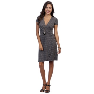 Escada Women's Eumarie Polka Dot Faux Wraparound Jersey Dress