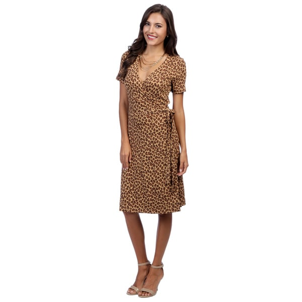 Escada Women's Essey Leopard-print Jersey Wraparound Dress