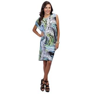 Escada Women's Eijai Multicolor Dolman Sleeve Jersey Dress