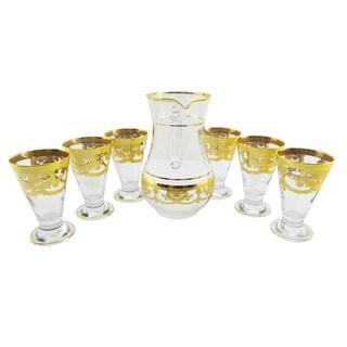 Six-piece Glass Set with Glass Pitcher