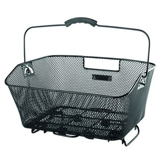 Wire Mesh Bicycle Basket with Clamp Attachment