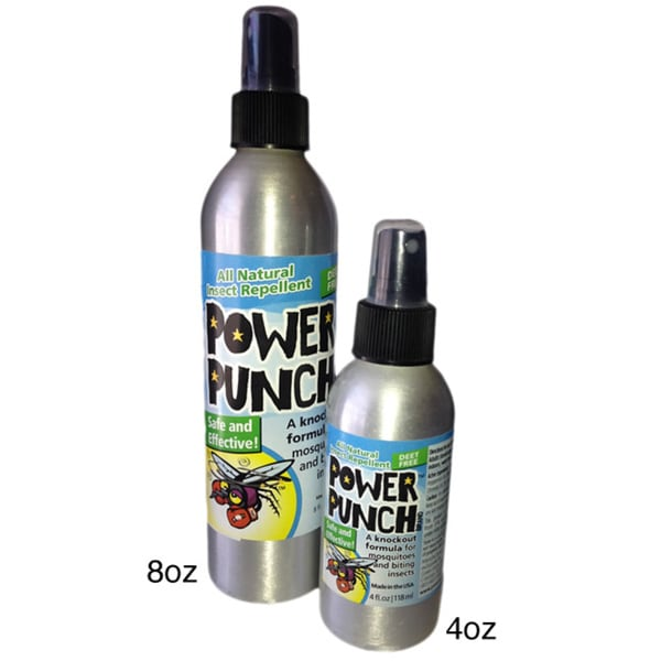 Power Punch Brand All Natural Insect Repellent with Bonus Pocket Sprayer