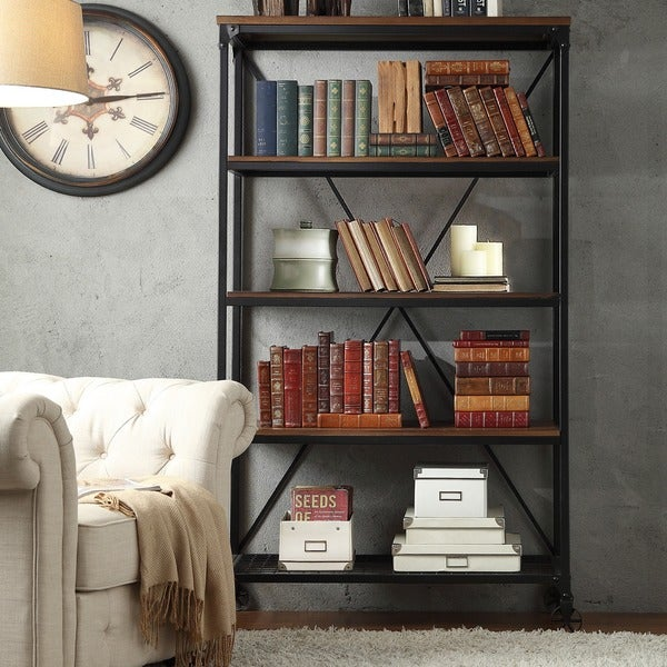 INSPIRE Q Nelson Industrial Modern Rustic 40-inch Bookcase