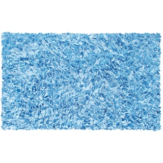 Shaggy Raggy Light Blue Area Rug (2'8 x 4'8)