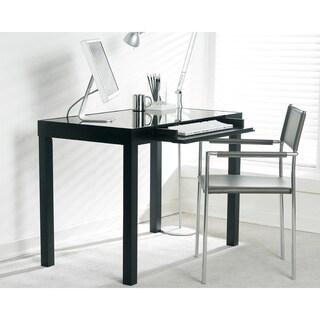 Sunpan Philmore Glass Top Birch Wood Desk