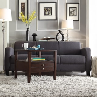 TRIBECCA HOME Clove Dark Grey Linen Contemporary Sofa