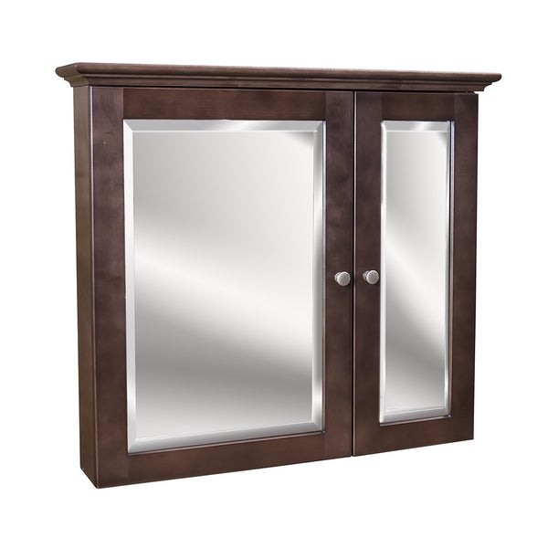 2-door Cherry Stained Medicine Cabinet
