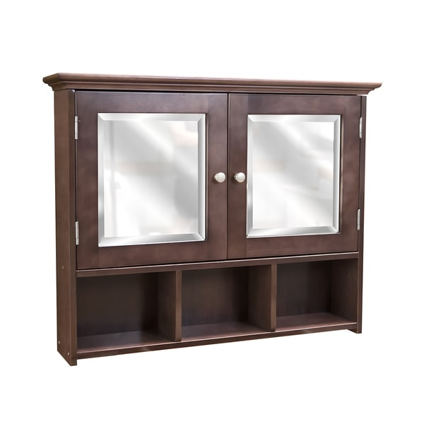 Cherry Stained Wall Mounted Medicine Cabinet