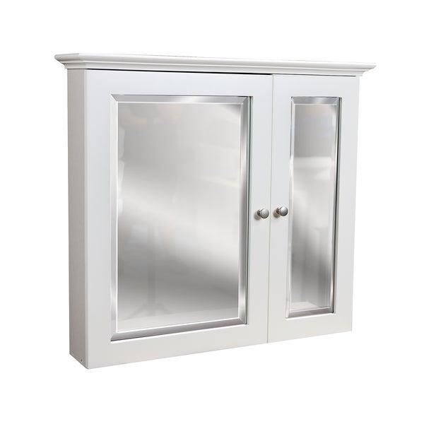 2-door White Medicine Cabinet