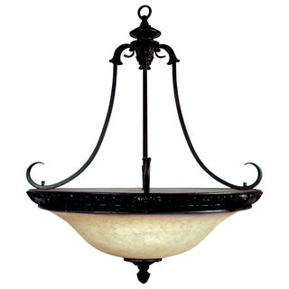 Yosemite Home Decor 4-light Chandelier Frosted Alabaster Glass