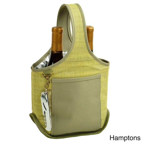 Polycanvas Two-bottle Wine Carrier