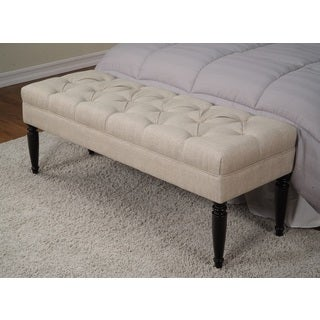 Claudia Diamond Secret Natural Tufted Bench
