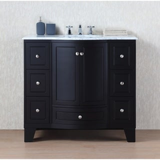 40-inch Grand Cheswick Espresso Single Sink Vanity with Carrara Marble Top