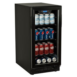 Koldfront Black 80-can Built-in Beverage Cooler