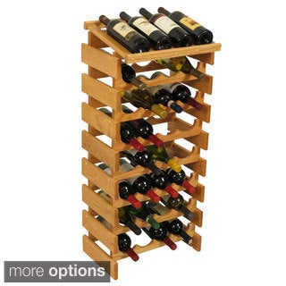 Dakota 32-bottle Stackable Wood Wine Rack with Display Top
