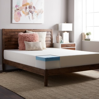 SL Loft Medium Firm 10-inch Queen-sized Gel Memory Foam Mattress with EZ Fit Foundation