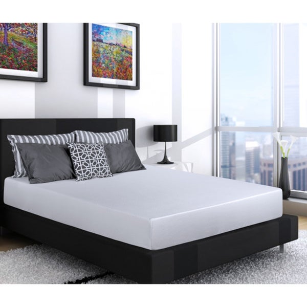 SL Loft Medium Firm 10-inch Urban Queen-sized Gel Memory Foam Mattress with EZ Fit Foundation