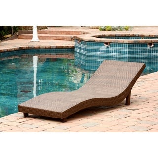 Abbyson Living Palermo Outdoor Brown Wicker Chaise Lounge