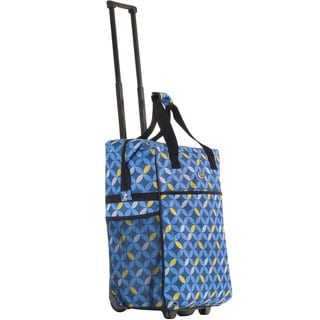 Calpak 'Big Eazy' Blue Circle 20-inch Washable Rolling Shopping Tote Bag