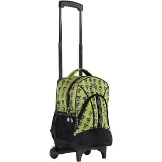 CalPak 'Grand Stand' Green Monster Print Rolling 17-inch Laptop Backpack