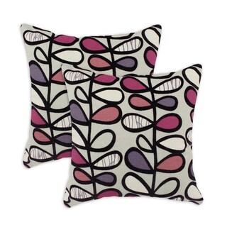 Amari Plum 17-inch Throw Pillows (Set of 2)