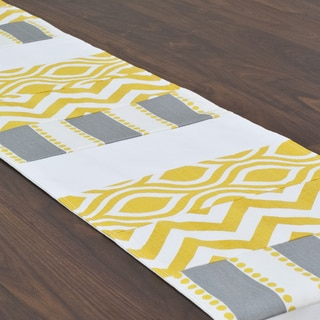Lulu Storm Pieced 12.5 x 72-inch Table Runner