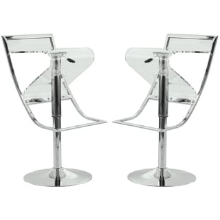 Clifton Transparent Acrylic Bar/ Counter Stool (Set of 2)