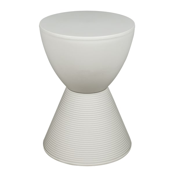 Somette Boyd Modern Light Grey Ribbed ABS Plastic Stool