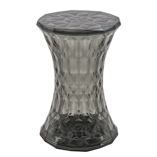 Clio Modern Transparent Black Diamond-shape Stool
