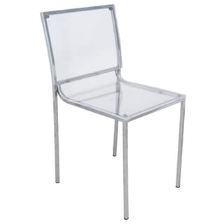 Somette Almeda Acrylic Clear Transparent Dining Chair