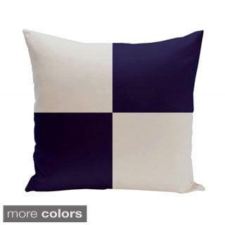 18 x 18-inch Paloma Large Check Print Geometric Decorative Pillow