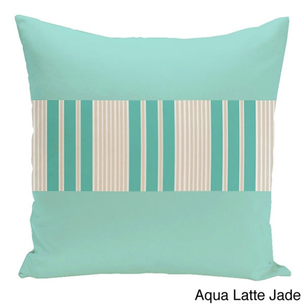 26 x 26-inch Color Block Stripe Decorative Throw Pillow